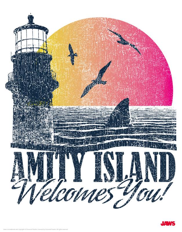 Jaws: Premium Art Print - Visit Amity