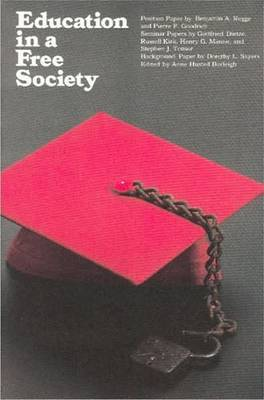 Education in a Free Society by Benjamin A. Rogge image