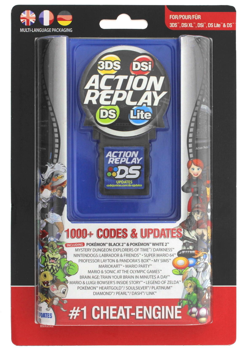 datel action replay cheat system ds dsi 3ds ds lite nintendo ds buy now at mighty ape nz. Black Bedroom Furniture Sets. Home Design Ideas