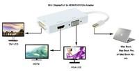 8ware: Mini DisplayPort to DVI/HDMI/VGA M/F Adapter image