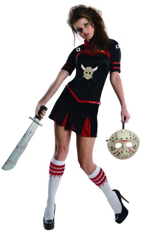 Miss Voorhees Cheerleader - Secret Wishes Costume (Medium)