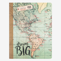 Legami: B5 Lined Notebook - Map