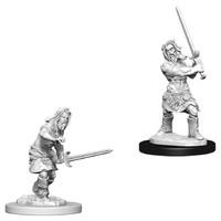 Pathfinder Deep Cuts: Unpainted Miniature Figures - Male Human Barbarian image
