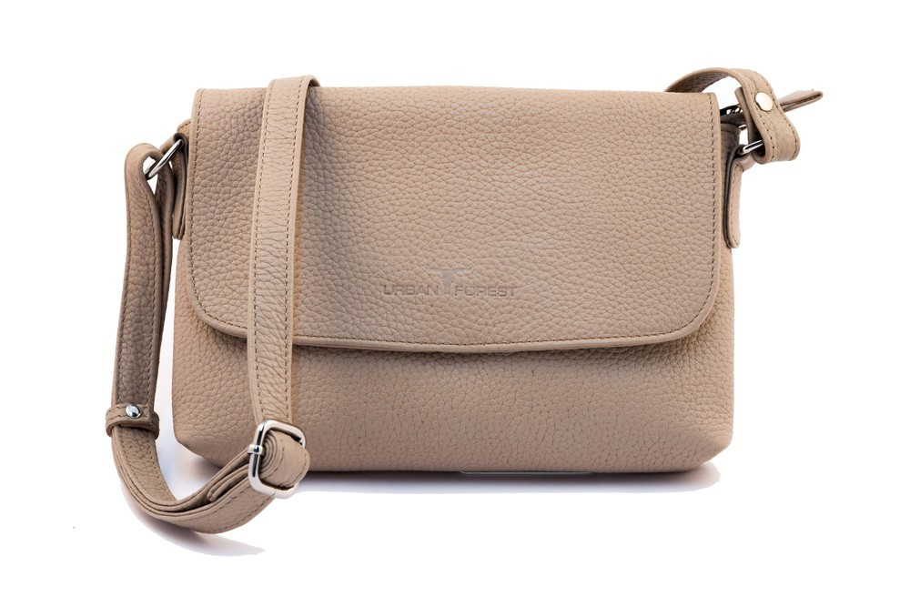 Urban Forest: Rosa Small Leather Handbag - Sand image