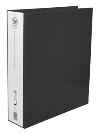 FM A4 Overlay Binder 3/50 Insertable Cover - Black