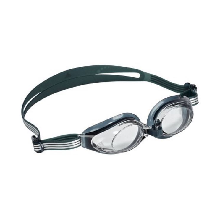 Adidas Aquastorm Goggles - Clear Lens (Bottle Green) image