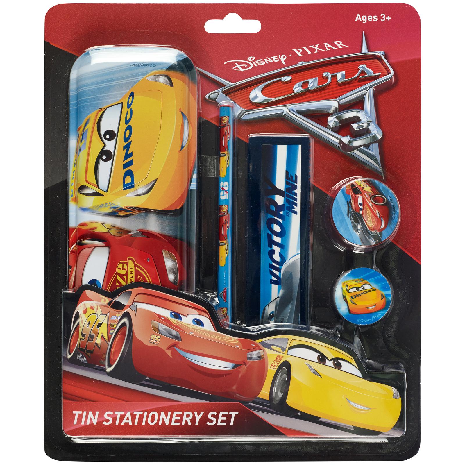 Disney Cars 3 Tin Case Stationery Set image