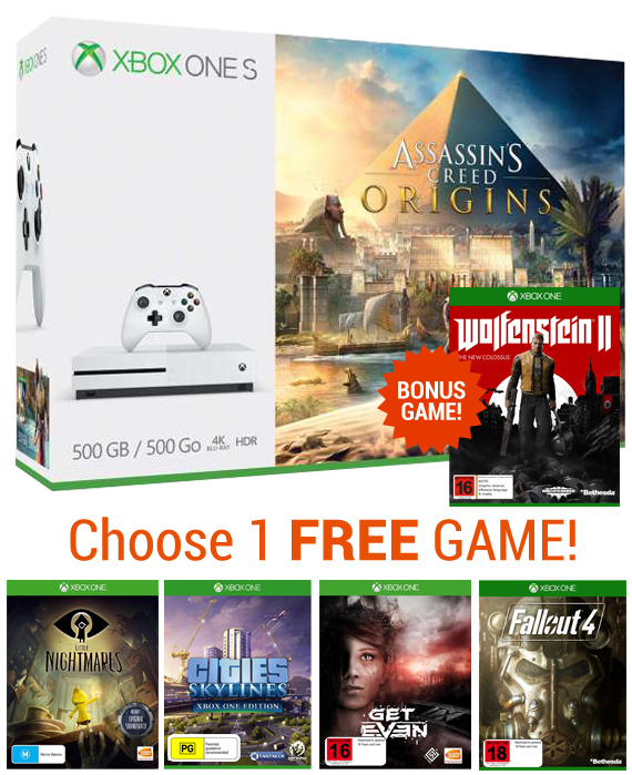 Xbox One S 500GB Assassin's Creed Origins Bundle for Xbox One image