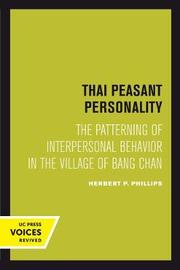 Thai Peasant Personality by Herbert P Phillips image