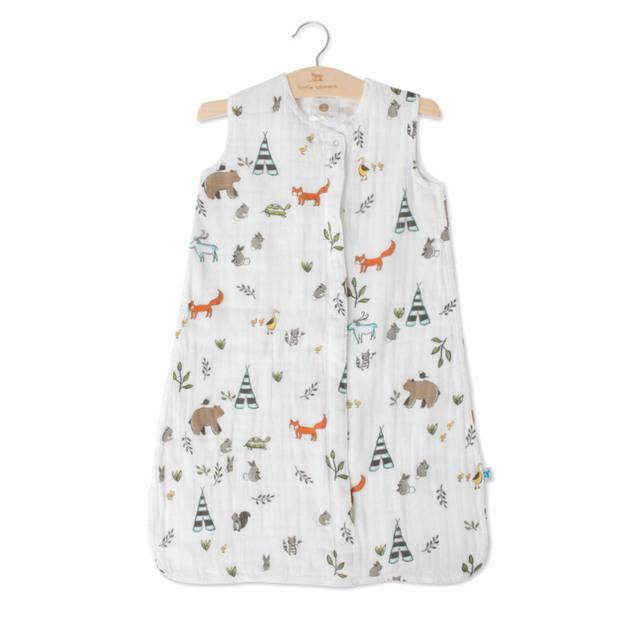Little Unicorn - Cotton Muslin Sleeping Bag - Forest Friends (Medium 6-12mth)