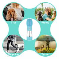 Pet Water Bottle With Snack Compartment - Blue image