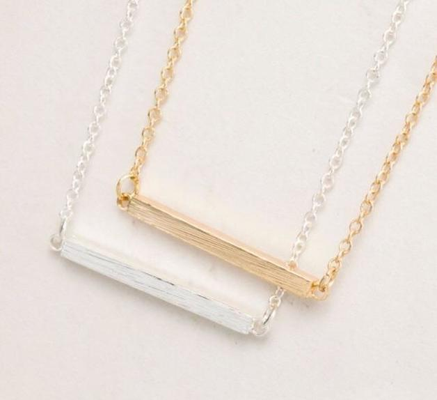 Katy B Jewellery: Rod Necklace - RoseGold