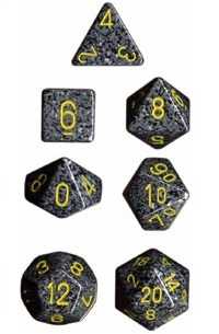 Chessex - Polyhedral Dice Set - Urban Camo Speckled image
