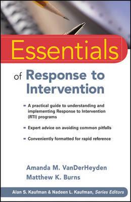 Essentials of Response to Intervention by Amanda M. VanDerHeyden