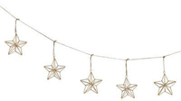 Geometric Gold Star Garland - 10 Star (1m)