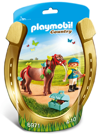 Playmobil: Groomer with Butterfly Pony