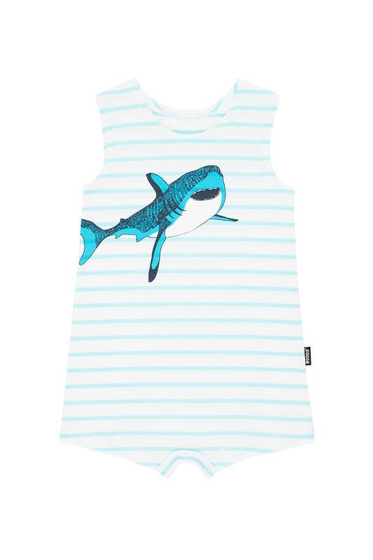 Bonds Toughies Suit - Shark (3-6 Months)