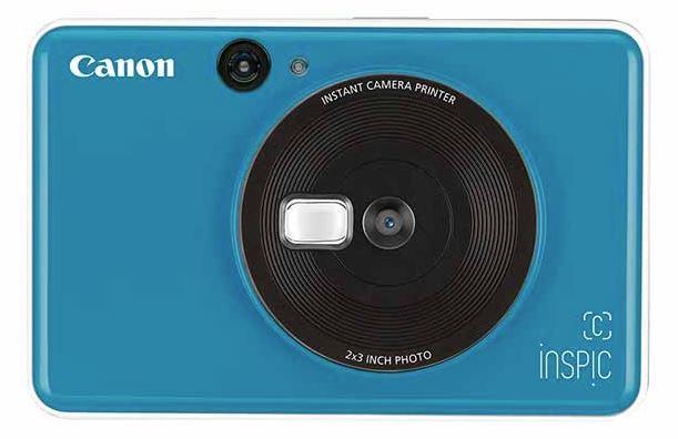 Canon: Inspic C 2in1 Camera and Mini Printer - Blue image