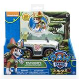 Paw Patrol Basic Vehicle & Pup - Tracker's Jungle Rescue