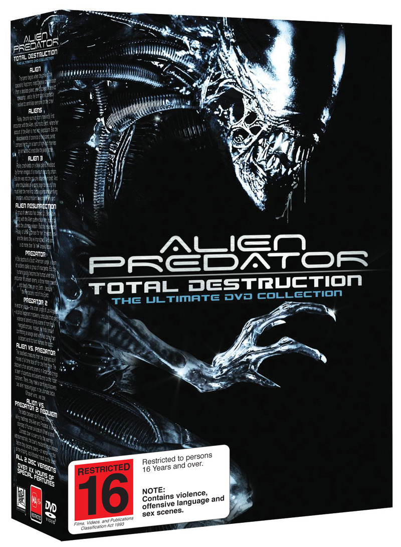 Alien and Predator - Total Destruction: The Ultimate DVD Collection (16 Disc Box Set) on DVD image
