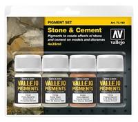 Vallejo Pigments Set - Stone & Cement