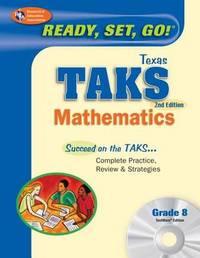 TX Taks Math Grade 8 W/CD (Rea) by Penny Luczak, M.A. image