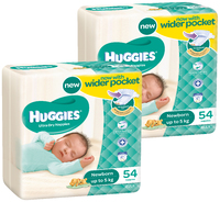 Huggies Nappies Bulk Bundle - Newborn - Up to 5kg (108)