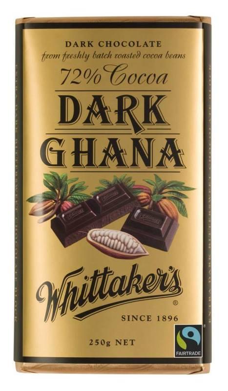 Whittaker's 72% Dark Ghana Block (250g)