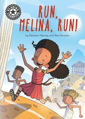 Reading Champion: Run, Melina, Run by Damian Harvey image