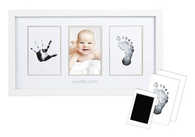 Pearhead: Baby-Prints Photo Frame - White