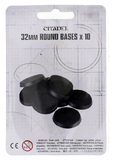 32mm Round Bases - Set of 10
