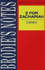 O'Brien: Z for Zachariah by John P. Jenkins image