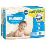 Huggies Ultra Dry Nappies Bulk - Infant Boy 4-8kg (48)