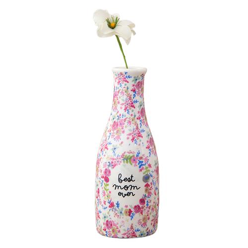 Natural Life: Floral Bud Vase - Best Mom Ever
