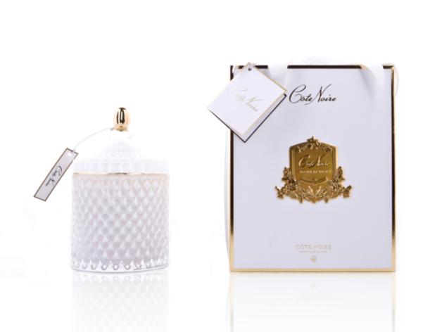 Cote Noire: Grand Art Deco Candle - White