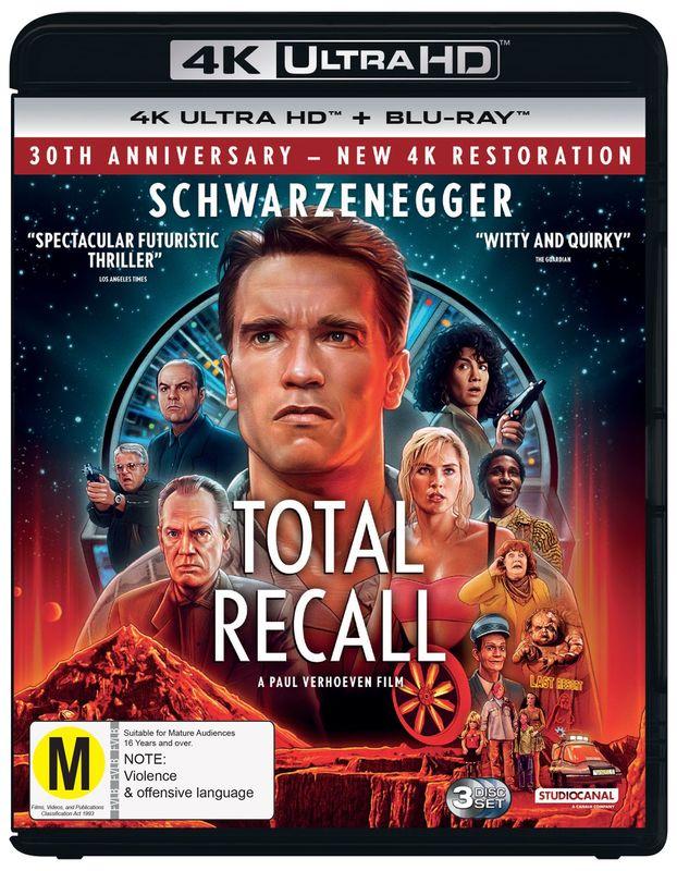 Classics Remastered: Total Recall (1990) on Blu-ray, UHD Blu-ray