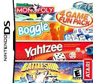 ATARI Fun Pack: Monopoly, Boggle, Yahtzee & Battleship for Nintendo DS