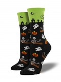 Undead Friends Crew Socks - Lime