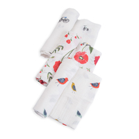 Little Unicorn - Cotton Muslin Swaddle - Summer Poppy (3 Pack)