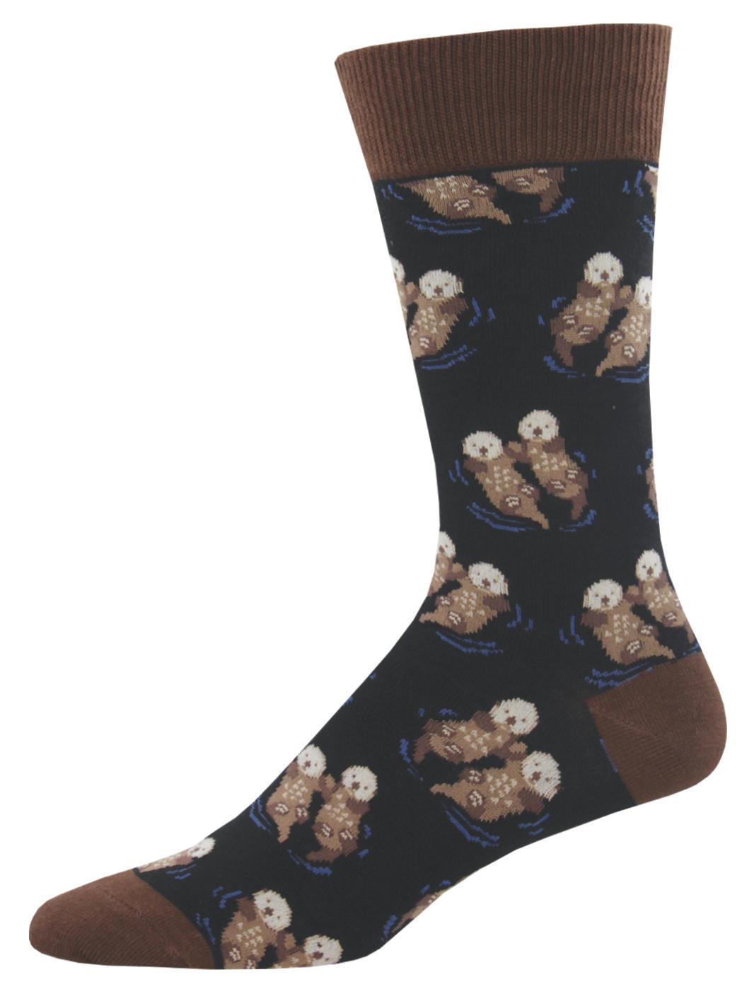Socksmith: Men's Significant Otter Crew Socks - Black image