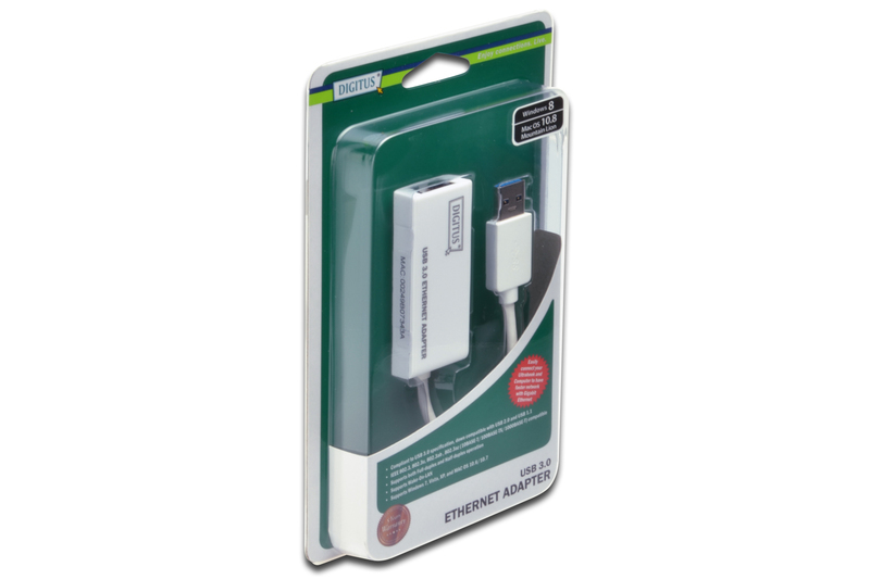 Digitus Gigabit Ethernet USB 3.0 Adapter (0.15m) image