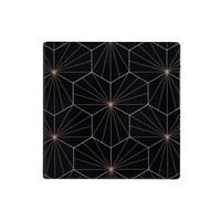 Maxwell & Williams Tessellate Ceramic Square Tile Coaster - Aster Black (9.5cm)
