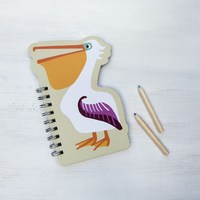 Colourful Creatures Spiral Notebook - Pelican image