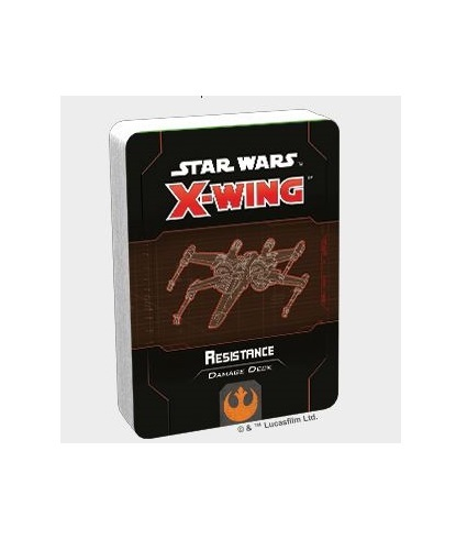 Star Wars X-Wing Second Edition Resistance Damage Deck