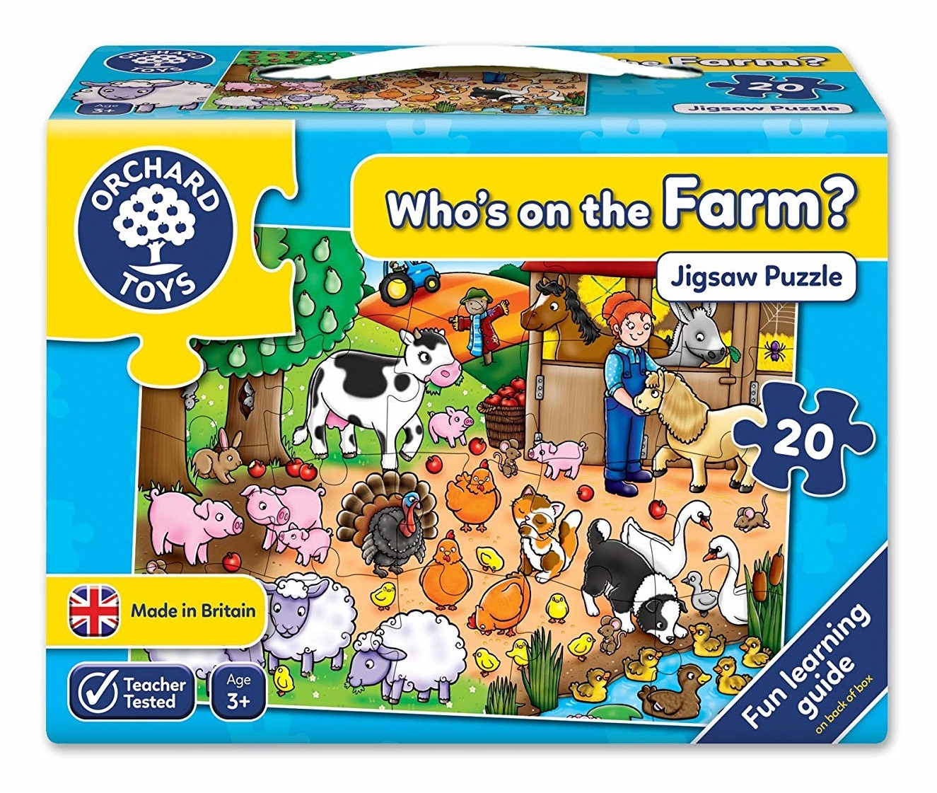 Orchard Toys: Who's On The Farm? - Jigsaw Puzzle image