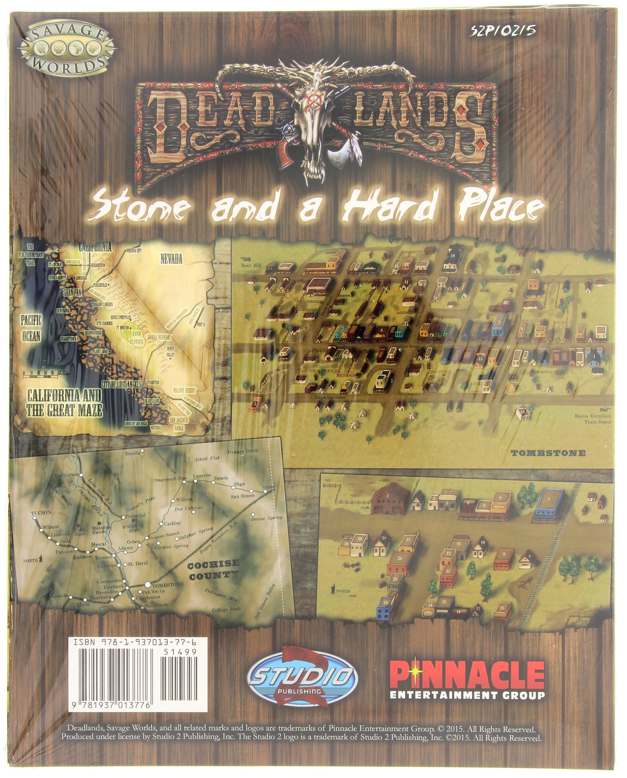 Deadlands California Map.Savage Worlds Rpg Deadlands Stone And A Hard Place Map