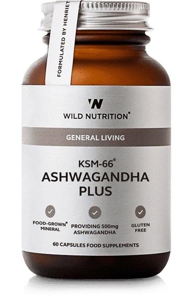 Wild Nutrition Food Grown KSM-66 Ashwagandha Plus (60 Caps)