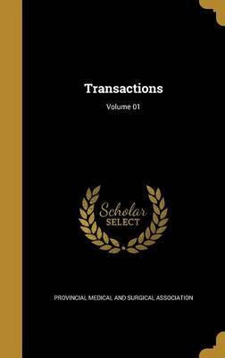 Transactions; Volume 01