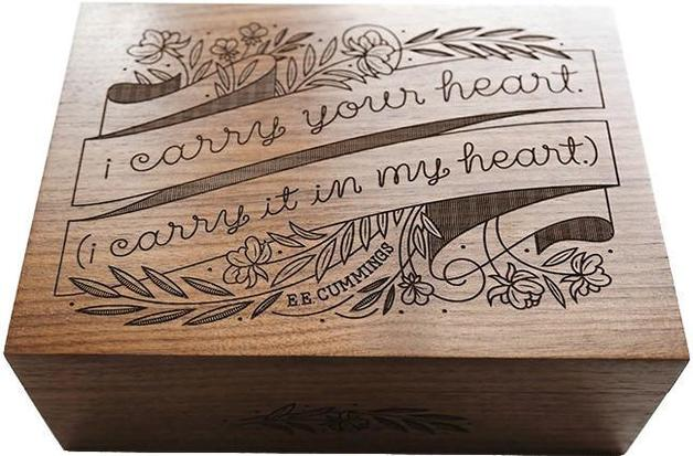 Cardtorial Wood Box - I Carry Your Heart