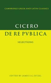 Cambridge Greek and Latin Classics by Marcus Tullius Cicero